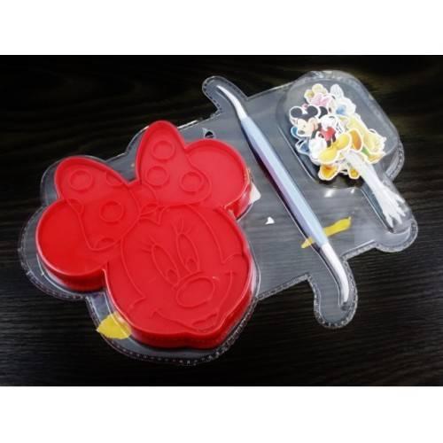 Wykrawacz Forma wyciskana Myszka Minne Disney + szpatułka + pikery