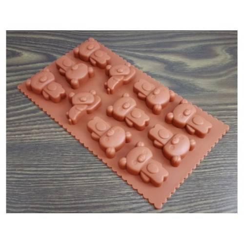 Silikonowa forma do czekolady MISIE