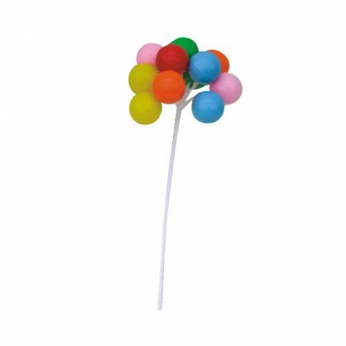 Zestaw Baloniki w kisci 12 szt. dekoracja PCV 1 kpl.