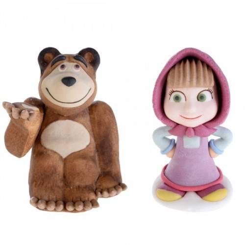 Figurki cukrowe Masha i Niedźwiedź kpl. 2 szt.