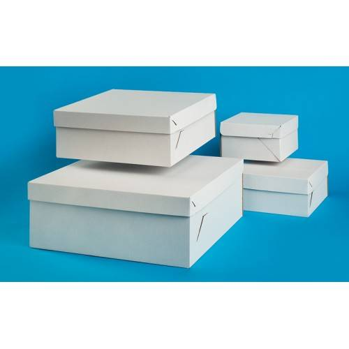 Pudełko na tort z klapą 48x37x15 t.falista