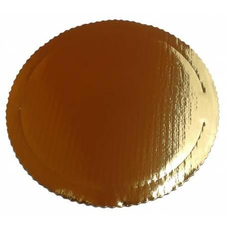 Podkład pod tort okrągły złoty gruby fi. 26 cm