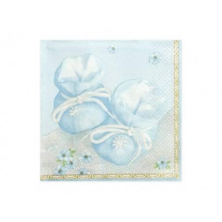 Serwetki papierowe BUCIKI - niebieskie
