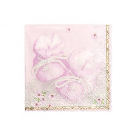 Serwetki papierowe BUCIKI - różowe