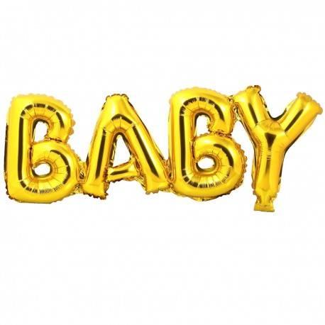 Balon foliowy BABY kolor ZŁOTY