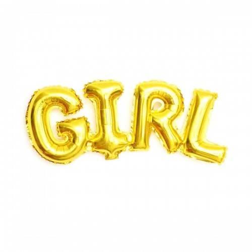 Balon foliowy GIRL kolor ZŁOTY