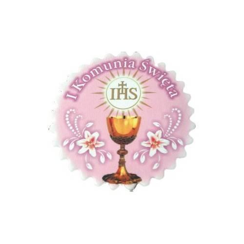 HOSTIA TABLICZKA PŁASKA z różowym tłem