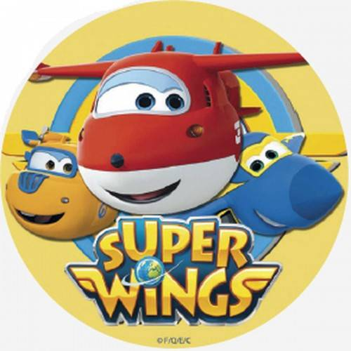 Opłatek na tort SUPER WINGS