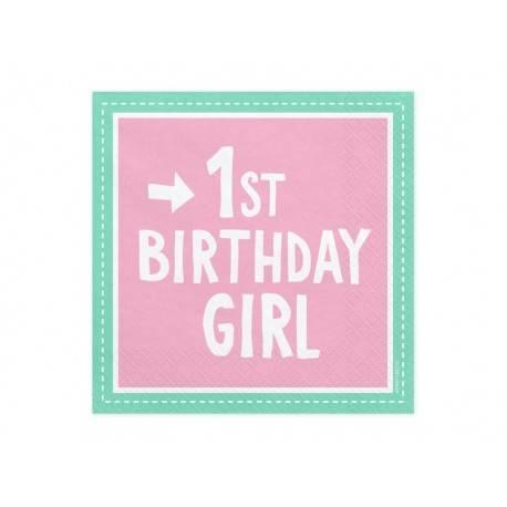 Serwetki 1st Birthday Girl