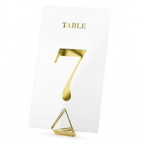 Transparentne numery na stół, złoty, 7x12cm (1 op. / 20 szt.)
