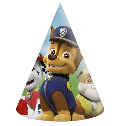 """Czapeczki papierowe """"Psi Patrol - Gotowi do Akcji"""""""