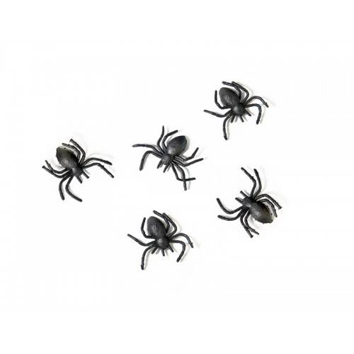 Pająki plastikowe czarne