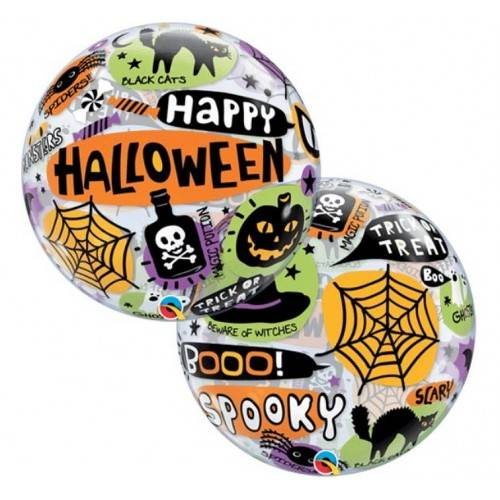 "Balon foliowy Bubbles ""Happy Halloween"""