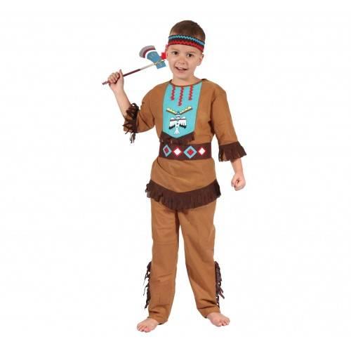 Strój dla dzieci Indianin Lecący Ptak (koszula, spodnie, pasek, opaska), rozm. 120/130 cm