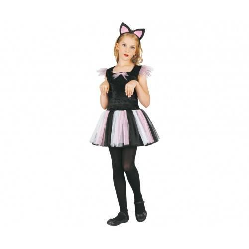 Strój dla dzieci Kotka (sukienka, opaska), rozm. 120/130 cm