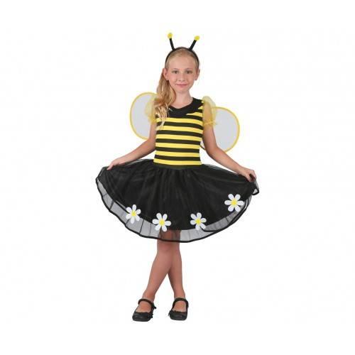 Strój dla dzieci Słodka Pszczółka (sukienka, opaska, skrzydełka), rozm. 120/130 cm