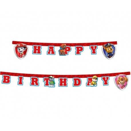 GIRLANDA HAPPY BIRTHDAY PSI PATROL