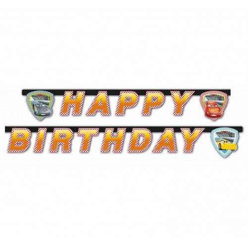 GIRLANDA HAPPY BIRTHDAY AUTA-CARS