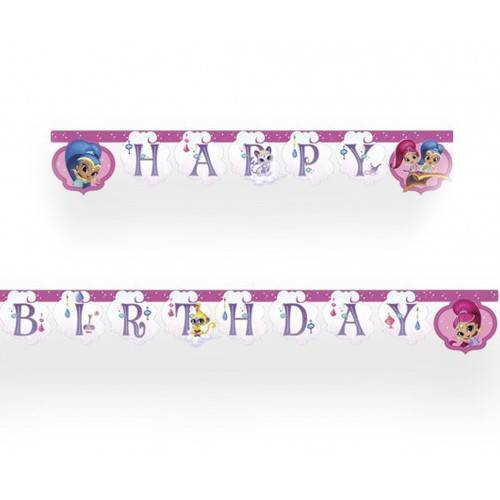 GIRLANDA HAPPY BIRTHDAY SHIMMER I SHINE