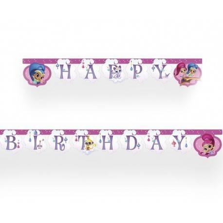 GIRLANDA HAPPY BIRTHDAY SHIMMER I SHINE