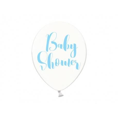 BALONY GUMOWE PRZEZROCZYSTE BABY SHOWER 6 SZT