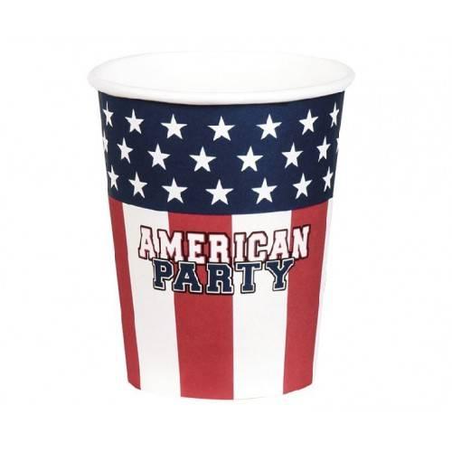"""KUBECZKI PAPIEROWE """"USA PARTY"""""""