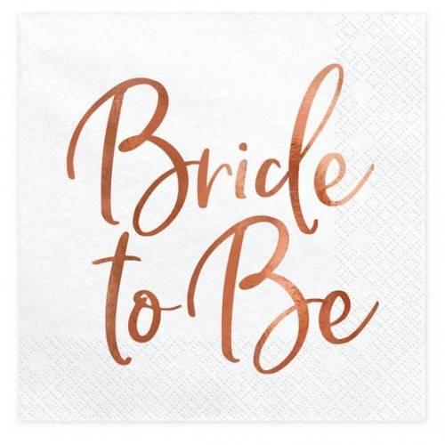 """SERWETKI PAPIEROWE TRÓJWARSTWOWE """"BRIDE TO BE"""""""