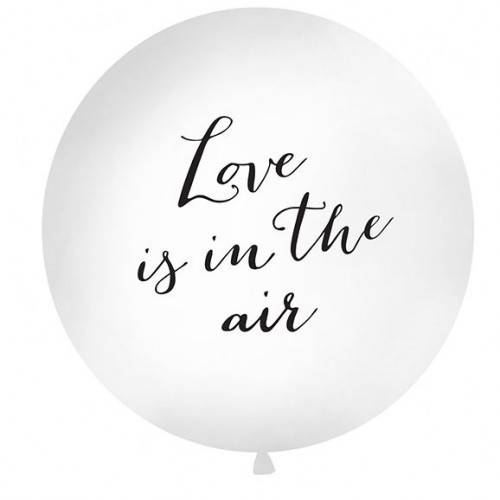 "BALON GIGANT Z NADRUKIEM ""LOVE IS IN THE AIR"""