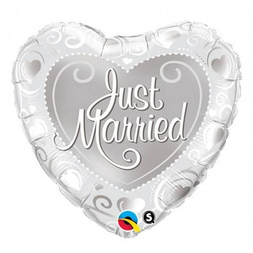 "BALON FOLIOWY SERCE ""SERCE JUST MARRIED"""