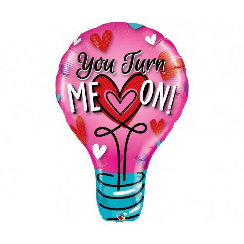 "BALON FOLIOWY ŻARÓWKA ""YOU TURN ME ON"""