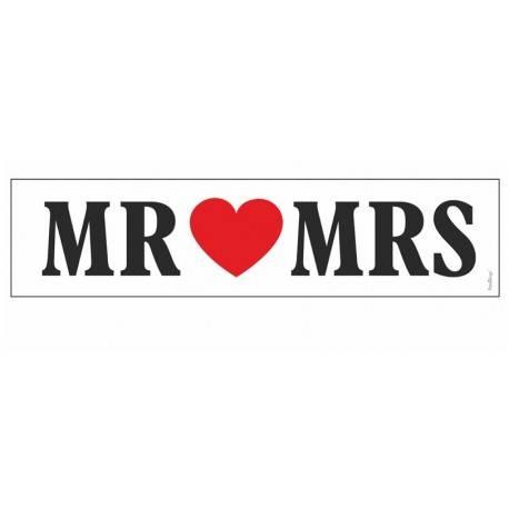 """TABLICE REJESTRACYJNE ŚLUBNE """"MR & MRS"""""""