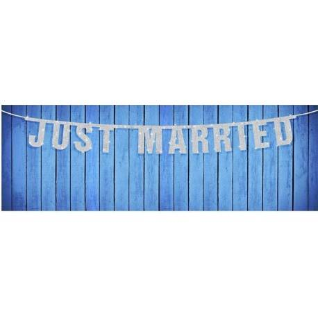 "BANER Z NAPISEM ""JUST MARRIED"""