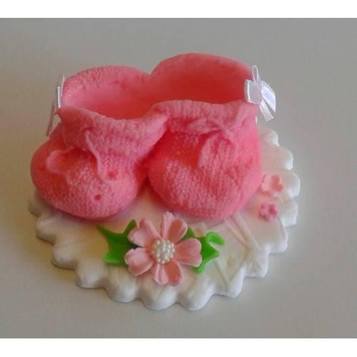 Para różowych bucików 1szt.