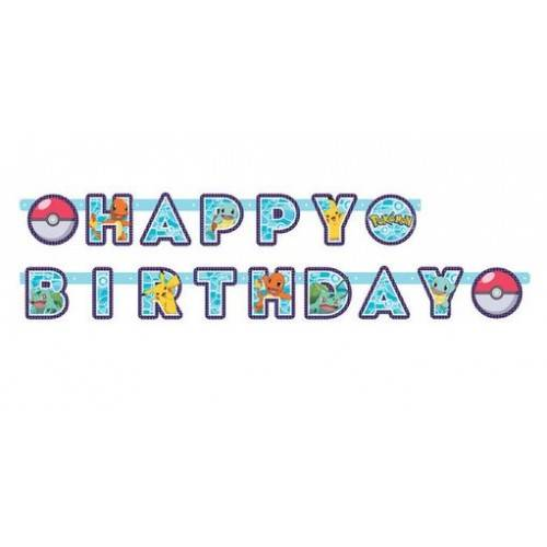 GIRLANDA BANER HAPPY BIRTHDAY POKEMON