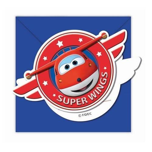"""ZAPROSZENIA URODZINOWE """"SUPER WINGS"""""""