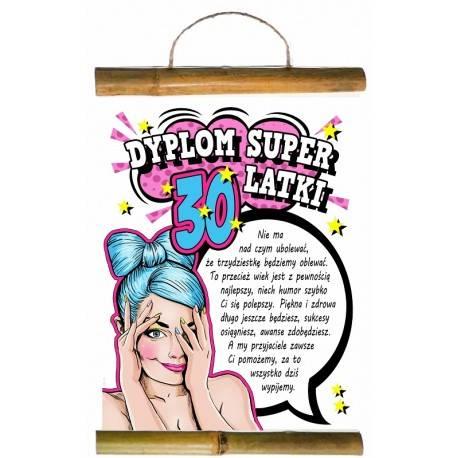 DYPLOM Z BAMBUSEM-DYPLOM SUPER 30-LATKI
