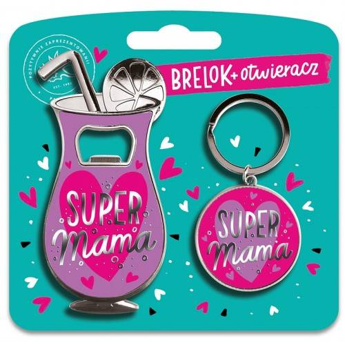 BRELOK + OTWIERACZ - SUPER MAMA