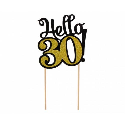 TOPPER NA TORT HELLO 30