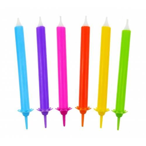 Świeczki tęczowe kpl. 12 sztuk
