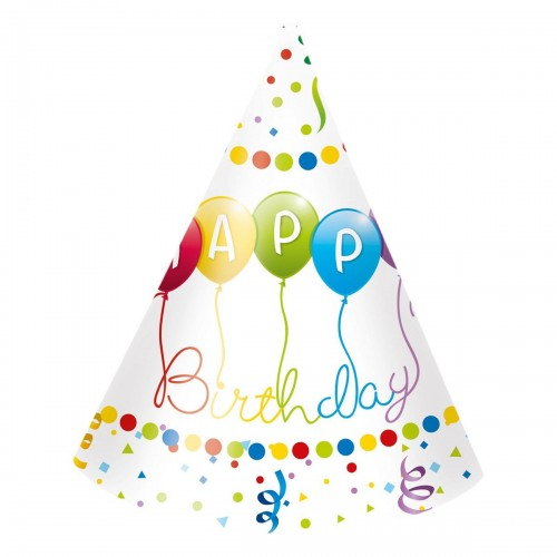 CZAPECZKI PAPIEROWE HAPPY BIRTHDAY